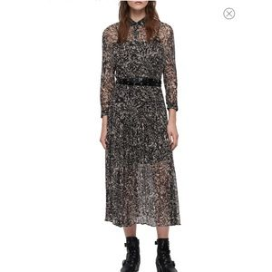 NWT All Saints Eley Rosey Off White Floral Dress